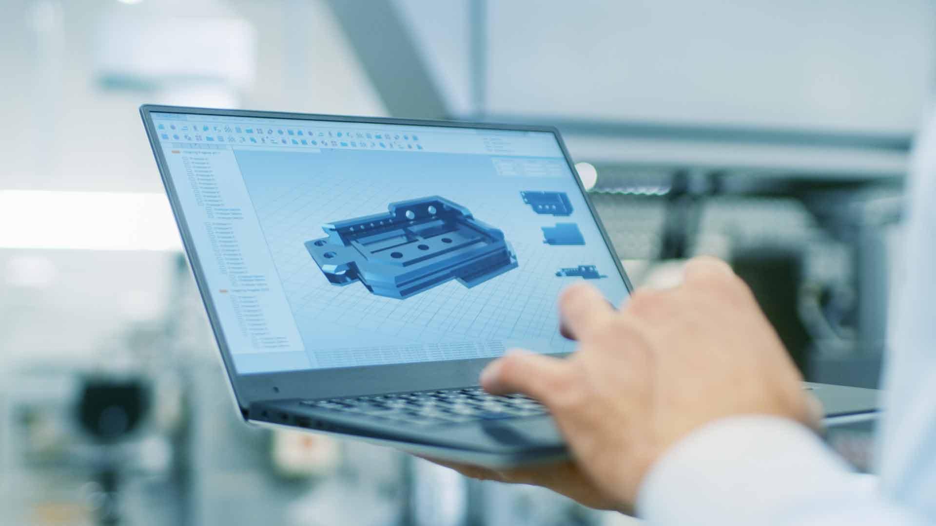 CNC computer component